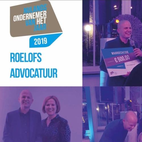 Roelofs Advocatuur Ondernemer van het jaar 2019